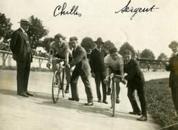 France Paris Sport Cyclisme Championnat Match Chilles Sergent Ancienne Photo 1923 - Sports