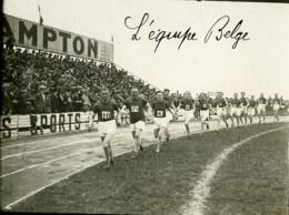 Paris Course Athletisme France Belgique Equipe Belge Ancienne Photo Juin 1923 - Sports