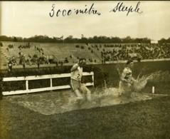 Paris Course Athletisme France Belgique ? 3000m Steeple Ancienne Photo Juin 1923 - Sports