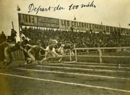 Paris Course Athletisme France Belgique ? 100m Ancienne Photo Juin 1923 - Sports