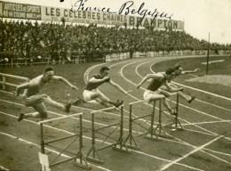 Paris Course Athletisme France Belgique 110m Haies Ancienne Photo Juin 1923 - Sports