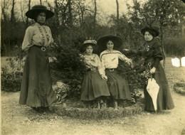 France Hucqueliers Groupe De Femmes Chapeaux Féminins Ancienne Photo 1911 - Photographs