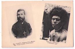 3092 - Papouasie-Nouvelle Guinée - Missionnaires Du Sacré-Coeur D'Issoudun Monseigneur Verjus Et Type De La Montagne - Papouasie-Nouvelle-Guinée
