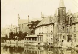 Belgique Bruges Brugge Canal Estaminet La Vache Ancienne Photo 1900 - Places