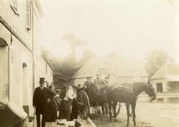 France Villers Un Dimanche à La Campagne Charette Cheval Ancienne Photo 1900 - Photographs