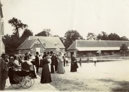 France Villers Un Dimanche à La Campagne Fete Au Village Ancienne Photo 1900 - Photographs