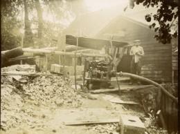 France Ouvrier De La Scierie Ancienne Photo 1900 - Professions