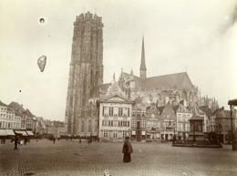 Belgique Malines Mechelen Cathedrale Et Place Ancienne Photo 1900 - Places