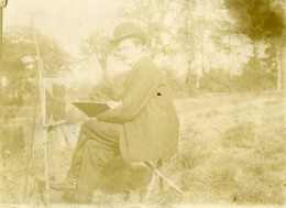 France Region De Lille Le Peintre Et Son Chevalet Ancienne Photo 1900 - Photographs