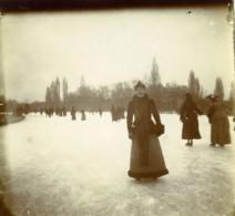 France Lille Hiver Dames En Patins à Glace Ancienne Photo 1900 - Photographs