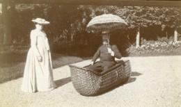 Nord De La France Amusement Du Dimanche Grand Fauteuil En Osier Ancienne Photo 1900 - Photographs