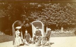Nord De La France Amusement Du Dimanche Grand Fauteuils En Osier Ancienne Photo 1900 - Photographs