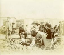 Nord De La France Bains De Mer Famille A La Plage Ancienne Photo 1900 - Photographs