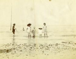 Nord De La France Bains De Mer Groupe D'Enfants Ancienne Photo 1900 - Photographs