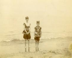 Nord De La France Bains De Mer Baigneuses Ancienne Photo 1900 - Photographs