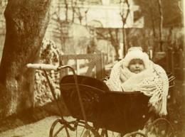 France Roubaix? Promenade De L'Enfant Dans Son Landau Ancienne Photo 1900 - Photographs