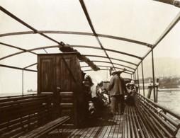 France Lac Du Bourget En Bateau Ancienne Photo 1900 - Photographs