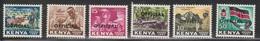 KENYA Scott # O1-6 MH - Official Overprint - Kenya (1963-...)