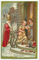 Sinterklaas / St Nicolas - Gaufré Reliëf  Dorures - Verstuurd 1905 - Nikolaus
