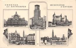 Groeten Uit ANTWERPEN - Un Bonjour D'ANVERS - Antwerpen