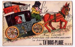 3095 - Le Bois-Plage , Ile De Ré ( 17 ) - Cp à Système - édit. J.Nozais à Nantes - - Ile De Ré