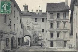 74 Annecy - Lot 2 CPA Porte Sainte-Claire -même Vue En 1914 Et 1918 - Pour Jouer Au Jeu Des 7 Erreurs En Famille - Annecy