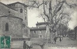 38 - Saint-Symphorien D'Ozon - Place Du Marché - Belle CPA Années 1910s - France