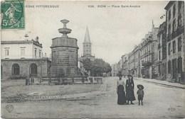 63 - Riom - Place Saint-Amable- Belle CPA Année 1911 - Magasin Aubry Teinturier - Riom