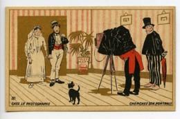 France Chocolat Tunisien Chromo Publicitaire Chez Le Photographe 1890 - Vieux Papiers