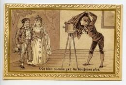 France Confiserie Delhaize Chromo Publicitaire Photographe Couple 1890 - Vieux Papiers