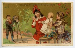 France Paris Chocolat Guerin Boutron Chromo Publicitaire Bebe & Photographe 1890 - Vieux Papiers