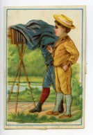 France Halluin Au Drapeau Belge Chromo Publicitaire Photographe 1890 - Old Paper