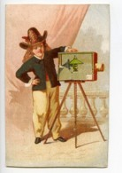 France Paris Chocolat Guillou Chromo Publicitaire Photographe 1890 - Old Paper