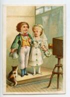 France Paris Maison Delachal Toiles Cirees Chromo Publicitaire Photographe 1890 - Vieux Papiers