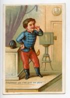 France Paris Maison Delachal Jouets Caoutchouc Chromo Publicitaire Photographe 1890 - Vieux Papiers