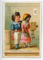 France Paris Maison Delachal Jouets Caoutchouc Chromo Publicitaire Photographe 1890 - Old Paper
