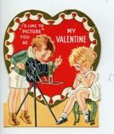 USA My Valentine Enfants Chromo Publicitaire Photographe 1940 - Vieux Papiers