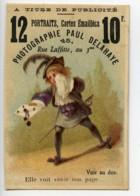 France Paris Chromo Publicitaire Photographe Paul Delahaye 1890 - Old Paper
