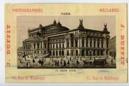 France Paris Opera Chromo Publicitaire Photographe J Duffit 1890 - Old Paper