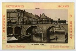 France Lille Grand Pont Chromo Publicitaire Photographe J Duffit 1890 - Old Paper