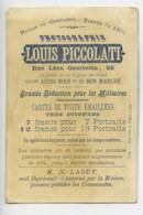 France Lille Chromo Publicitaire Autriche Photographe Louis Piccolati 1890 - Old Paper