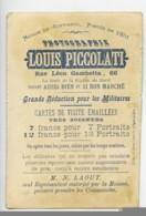 France Lille Chromo Publicitaire Suede Photographe Louis Piccolati 1890 - Old Paper