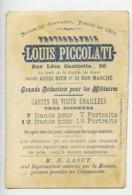 France Lille Chromo Publicitaire Suisse Photographe Louis Piccolati 1890 - Old Paper