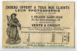 France Paris Au Pelerin Saint Jean Modiste Chromo Publicitaire Photographe 1890 - Old Paper