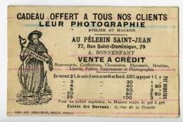 France Paris Au Pelerin Saint Jean Chromo Publicitaire Photographe 1890 - Old Paper