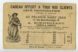France Paris Au Pelerin Saint Jean Mariage Chromo Publicitaire Photographe 1890 - Old Paper