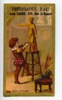 France Paris Chromo Publicitaire Sculpture Photographe Cassin 1890 - Old Paper