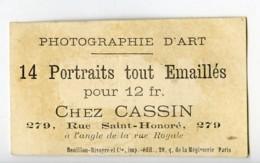 France Paris Chromo Publicitaire Portraits Emailles Photographe Leon Cassin 1890 - Old Paper
