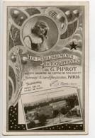 France Paris Carte Postale Etablissements Photographiques Piprot Marque Etoile 1910 - Illustrators & Photographers
