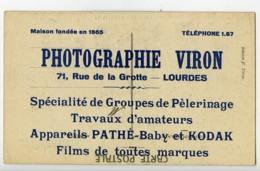 France Lourdes Carte Postale Photographe Viron 1900 - Illustrators & Photographers